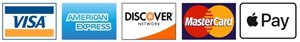 Visa, MasterCard, Discover and American Express and Apply Pay